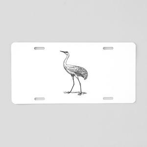Crane Aluminum License Plate