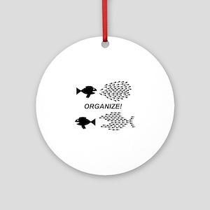 Organize Round Ornament