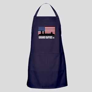 Grand Rapids MI American Flag Apron (dark)