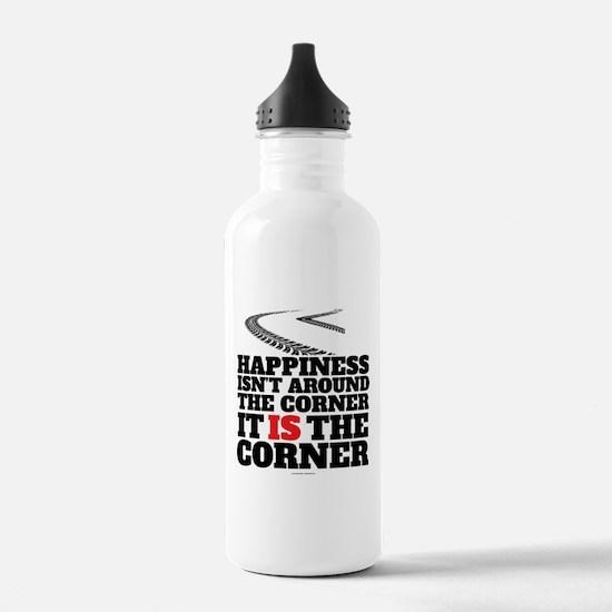 Happiness Isn't Around Water Bottle