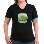 It's a surprise! Women's V-Neck Dark T-Shirt