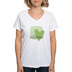 It's a surprise! Women's V-Neck T-Shirt