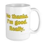 No Thanks Large Mug