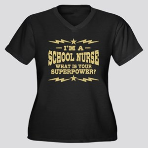 School Nurse Women's Plus Size V-Neck Dark T-Shirt