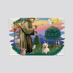 St Francis #2/ Westie #1 Magnets