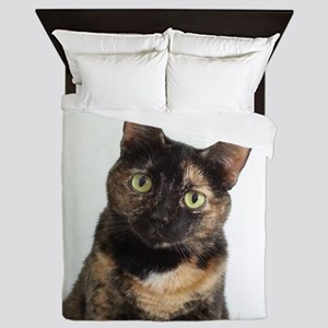 Tortie Cat Queen Duvet