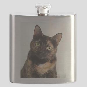 Tortie Cat Flask