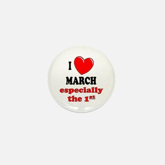 March 1st Mini Button