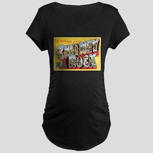 Chimney Rock Postcard Maternity Dark T-Shirt