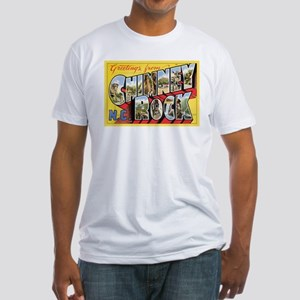 Chimney Rock Postcard Fitted T-Shirt