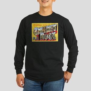 Chimney Rock Postcard Long Sleeve Dark T-Shirt
