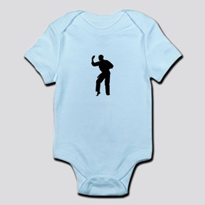 Karate man silhouette Body Suit