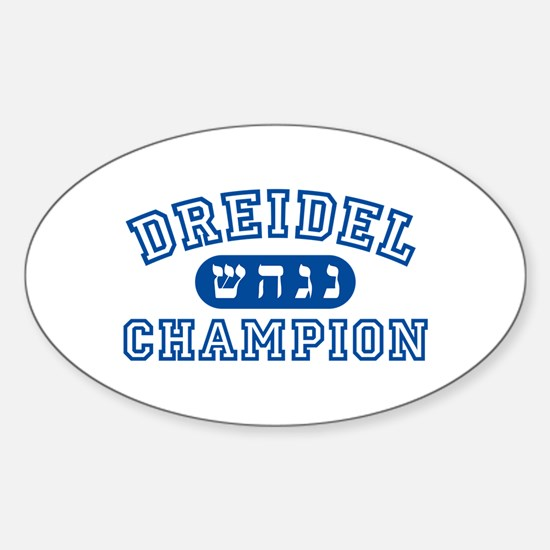 Dreidel Champion Oval Decal