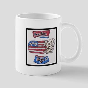 AMERICAN BIGFOOT FLAG Mugs