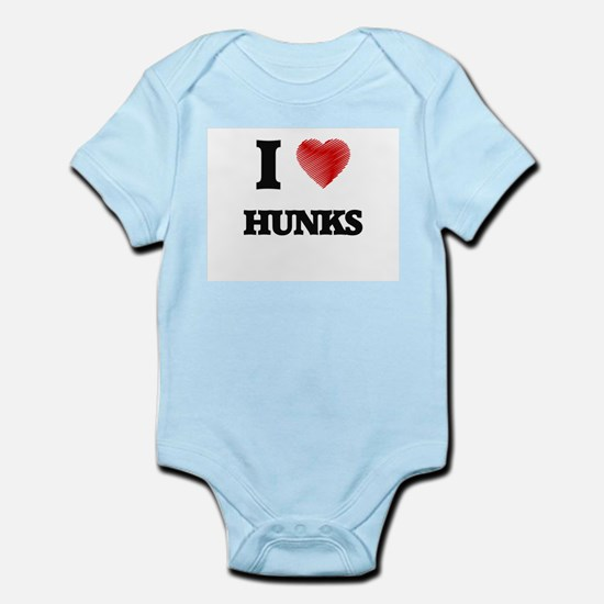 I love Hunks Body Suit