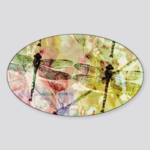 Artistic dragonflies Sticker