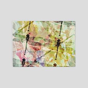 Artistic dragonflies 5'x7'Area Rug