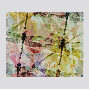 Artistic dragonflies Throw Blanket