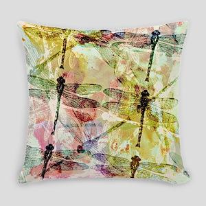 Artistic dragonflies Everyday Pillow