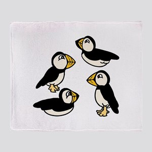 Puffins Throw Blanket