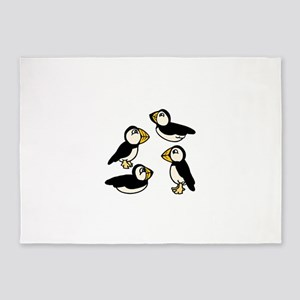 Puffins 5'x7'Area Rug