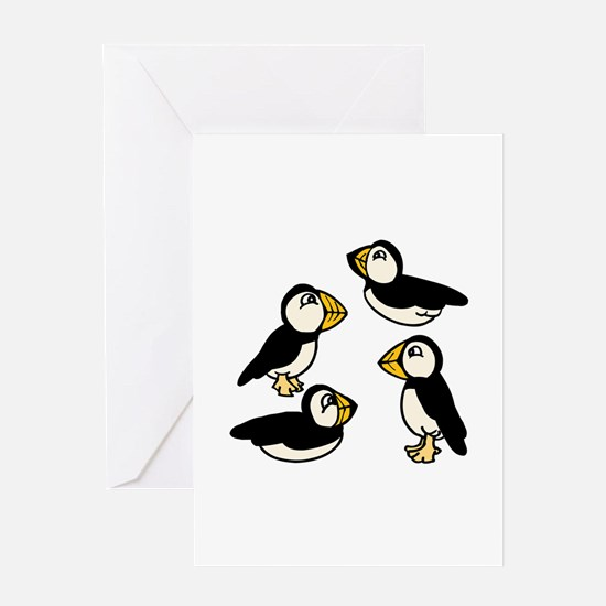 Puffins Greeting Cards