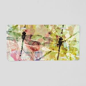 Artistic dragonflies Aluminum License Plate