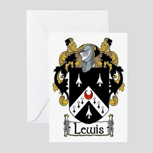 Lewis Coat of Arms Greeting Cards (Pk of 20)