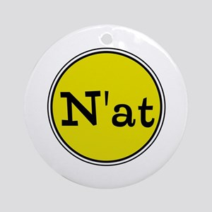 N'at, Pittsurghese, Pittsburgh slang Round Orn