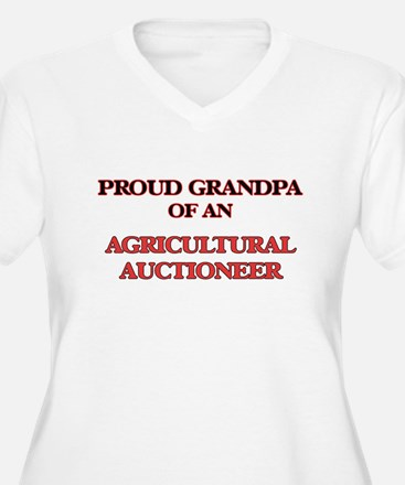 Proud Grandpa of a Agricultural Plus Size T-Shirt