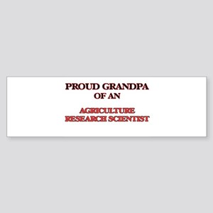 Proud Grandpa of a Agriculture Rese Bumper Sticker
