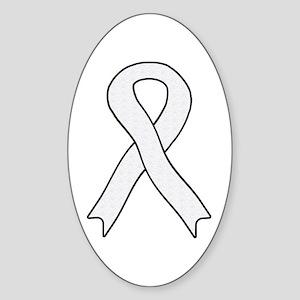 Pearl Ribbon Oval Sticker