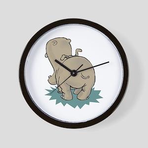 Hippo Rear Wall Clock