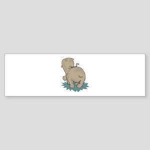 Hippo Rear Bumper Sticker