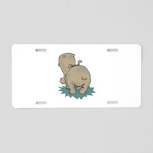 Hippo Rear Aluminum License Plate