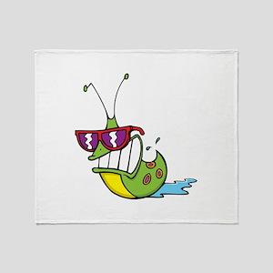 Slug Cool Throw Blanket