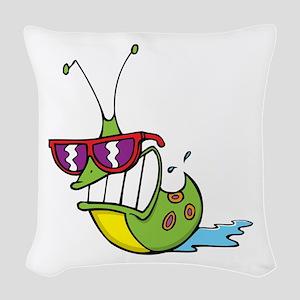 Slug Cool Woven Throw Pillow