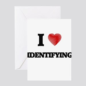 I love Identifying Greeting Cards