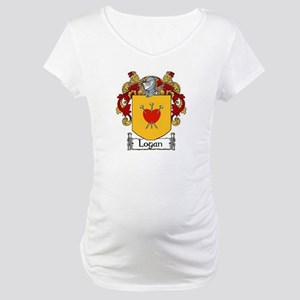 Logan Coat of Arms Maternity T-Shirt