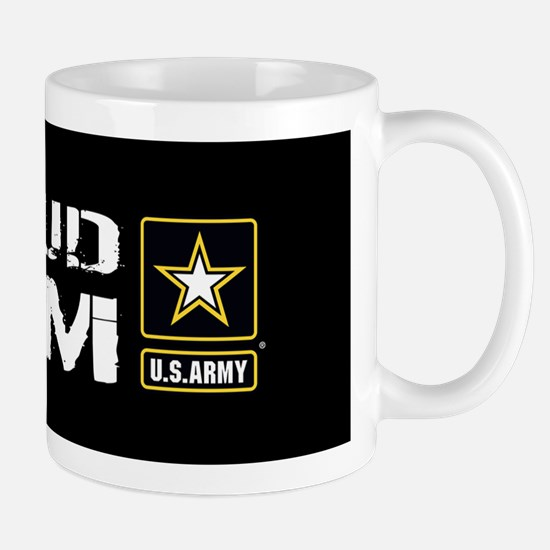 U.S. Army: Proud Mom (Black) Mug