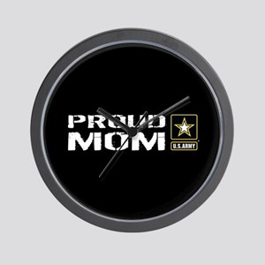U.S. Army: Proud Mom (Black) Wall Clock