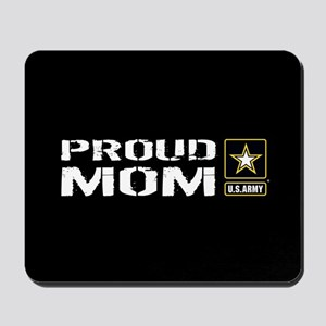 U.S. Army: Proud Mom (Black) Mousepad