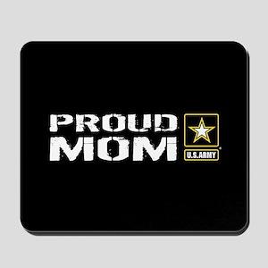 U.S. Army: Proud Mom (Black) Mousepad
