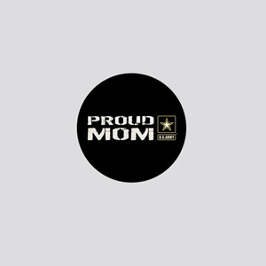 U.S. Army: Proud Mom (Black) Mini Button