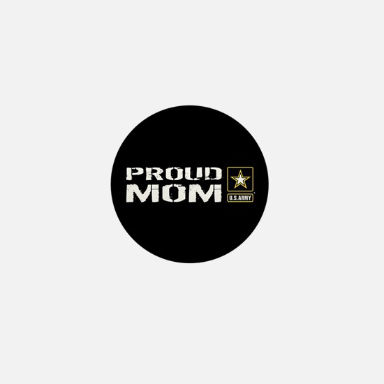 U.S. Army: Proud Mom (Black) Mini Button