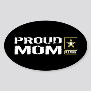 U.S. Army: Proud Mom (Black) Sticker (Oval)