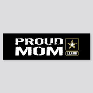 U.S. Army: Proud Mom (Black) Sticker (Bumper)