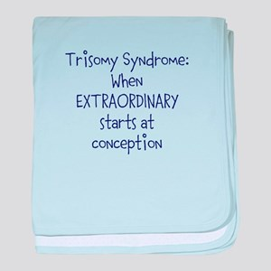 Trisomy Syndrome: Extraordinary baby blanket