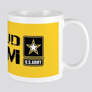 U.S. Army: Proud Mom (Gold) Mug