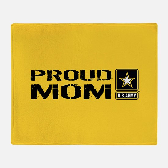 U.S. Army: Proud Mom (Gold) Throw Blanket